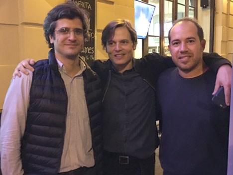 Fernando Bullrich, Matías Loizaga y Christian-Castellani de Music Partners.