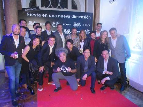 El equipo de Sony encabezado por Armando Mola, Presidente para Argentina, Uruguay y Paraguay, y con la presencia de Jun Komiyama, Diseñador del Muteki