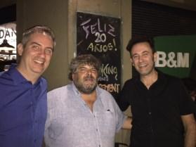 Hernán Gutiérrez, Alejandro Varela y Adrián Canedo