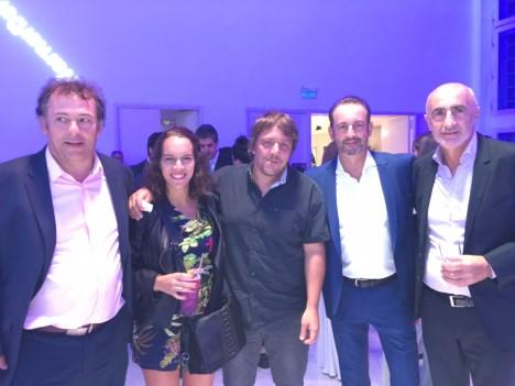 Ricardo Pinto, escribano de Warner, Marisol Urueña, Lionel Rodríguez, Guillermo Castellani y Pipa Podestá