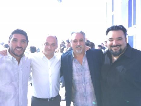 Gustavo Pérez de MTV, Pablo Cancelliere de Fox, Carlos Gambini de Radio Disney y Quique Chovanián de la 100
