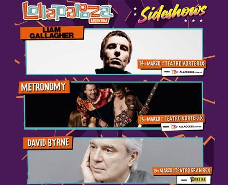 Lollapalooza Argentina anuncia nuevos Sideshows