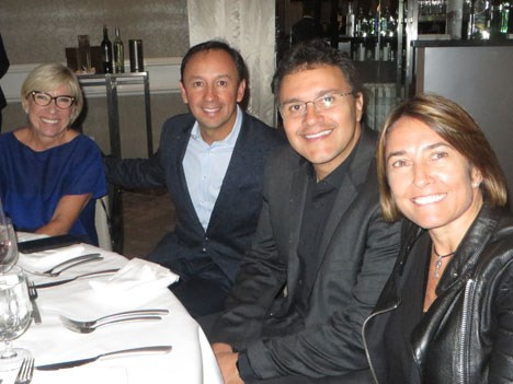 Rosa Lagarrigue, Víctor González, Paulo Lima de Brasil y Ana Clara Ortiz