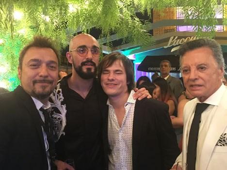Damián Amato, Abel Pintos, Nahuel Panissi y Palito Ortega