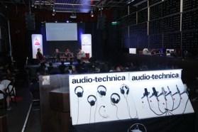 Audio Technica, patrocinador del evento.