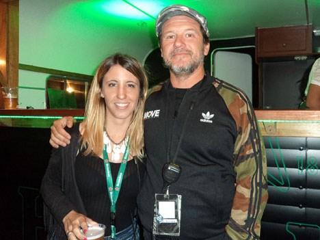 María Luján Muro de Heineken y Quique Battilana de Move Concerts en el V.I.P. de LYM