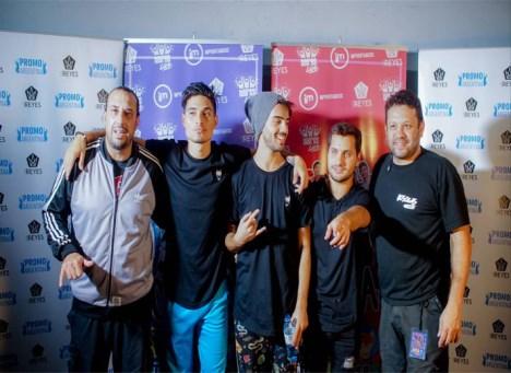 Diego De Cadis, Lucas Sanchez y Ricardo Farias con Mathías y Federico