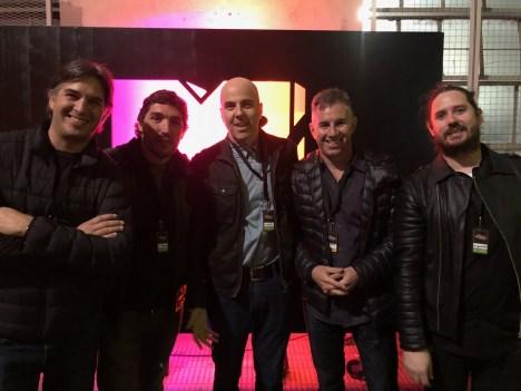 Hay equipo: Maxi Maldonado, Gus Pérez, Mac Zimet, Alejo Smirnoff y Mauricio Zapata de Viacom/MTV/Telefé