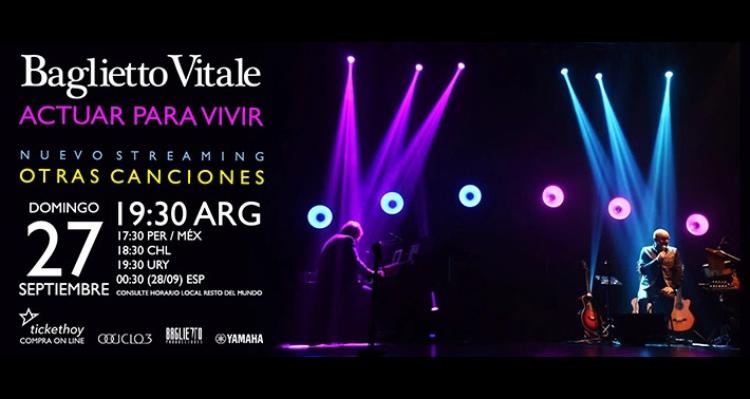 Nuevo show por streaming de Juan Carlos Baglietto y Lito Vitale